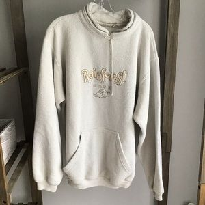 Rainforest Cafe Cream Comfy Cozy Sweatshirt